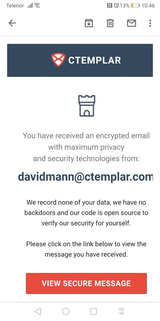 View Secure Email