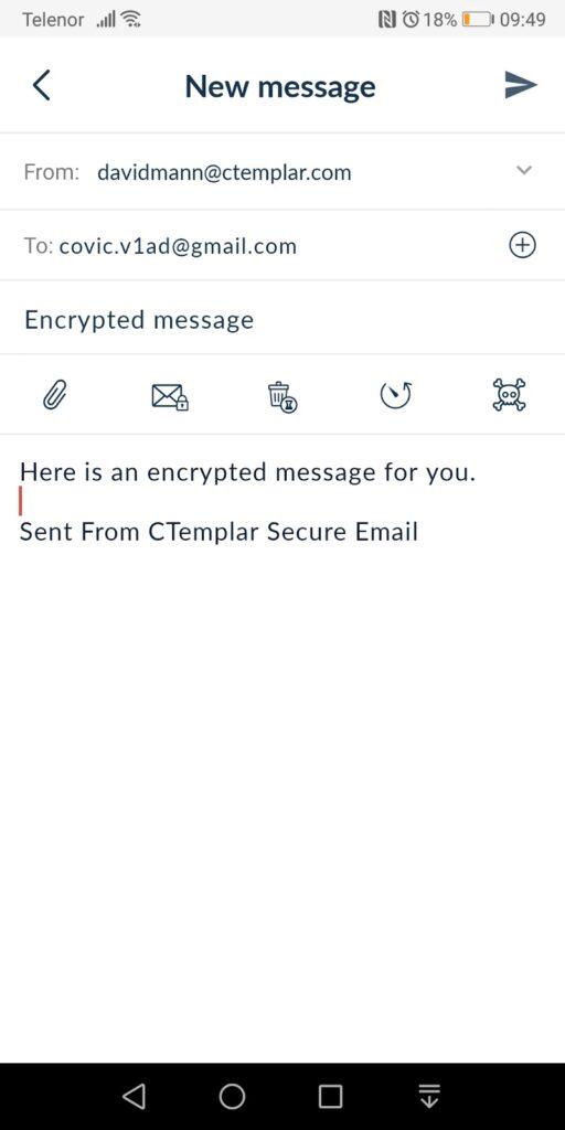 CTemplar Email New Message