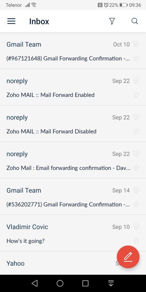 CTemplar Email Inbox