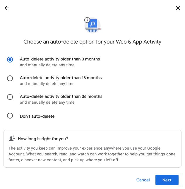 google activity history