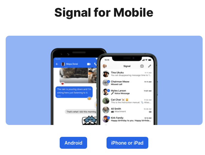 Signal for mobile